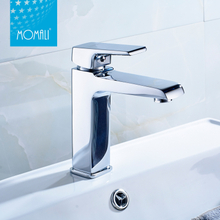 China faucet artistic brass high body basin water faucet modern style