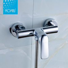 Momali best selling bright-silver taps durable indoor hot cold water shower faucet