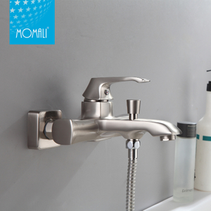Brass main body unique nickel brushed water bath faucet