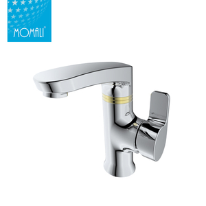 New design bathroom brass white faucet wash basin mixer tap